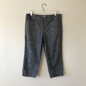 LOFT petite original cropped printed pants